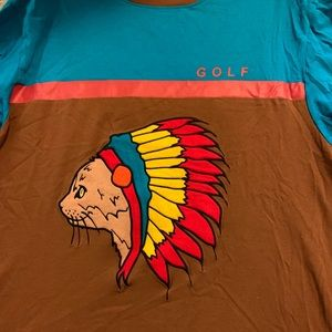 RARE GOLF WANG INDIAN CAT HOCKEY JERSEY